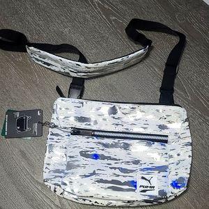 Puma Wild Cat White and Silver Messenger Bag